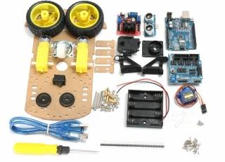 2WD Ultrasonic Smart Tracking Moteur Robot Car Kit For Arduino