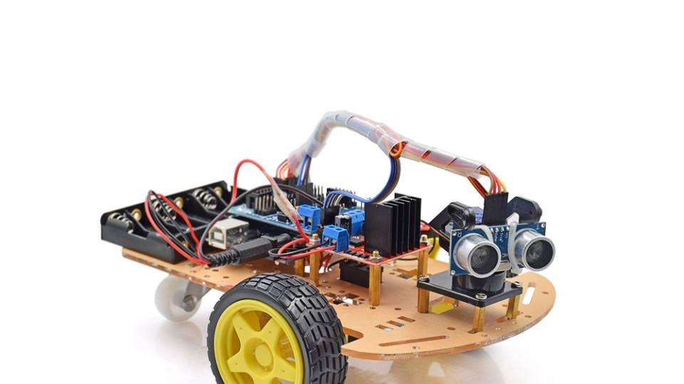 2WD Ultrasonic Smart Tracking Moteur Robot Car Kit For Arduino front
