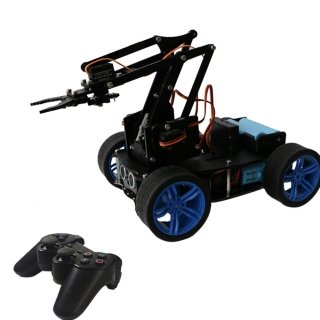 Pi Smart RC Robot Arm Car  ( Regular Wheel)