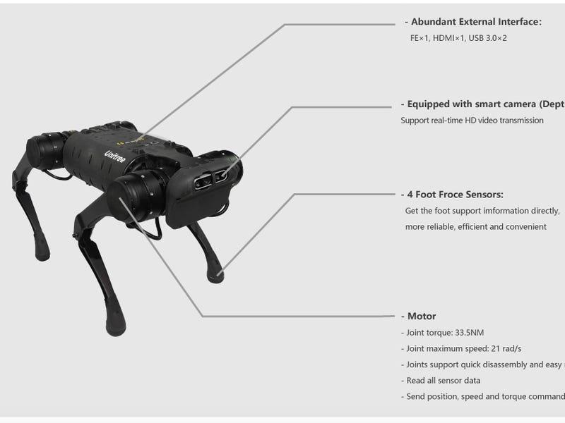 Unitree-A1-quadruped-robot-specs