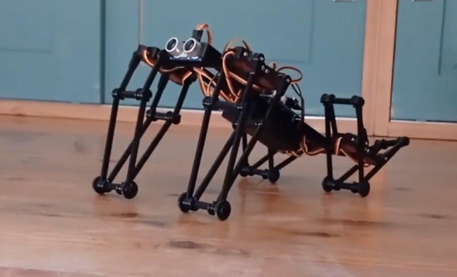 "3D printed ""GorillaBot"" robot run and jumps around 🦍 !"