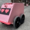 "Wobbly pink robot is solving the ""last mile delivery"""